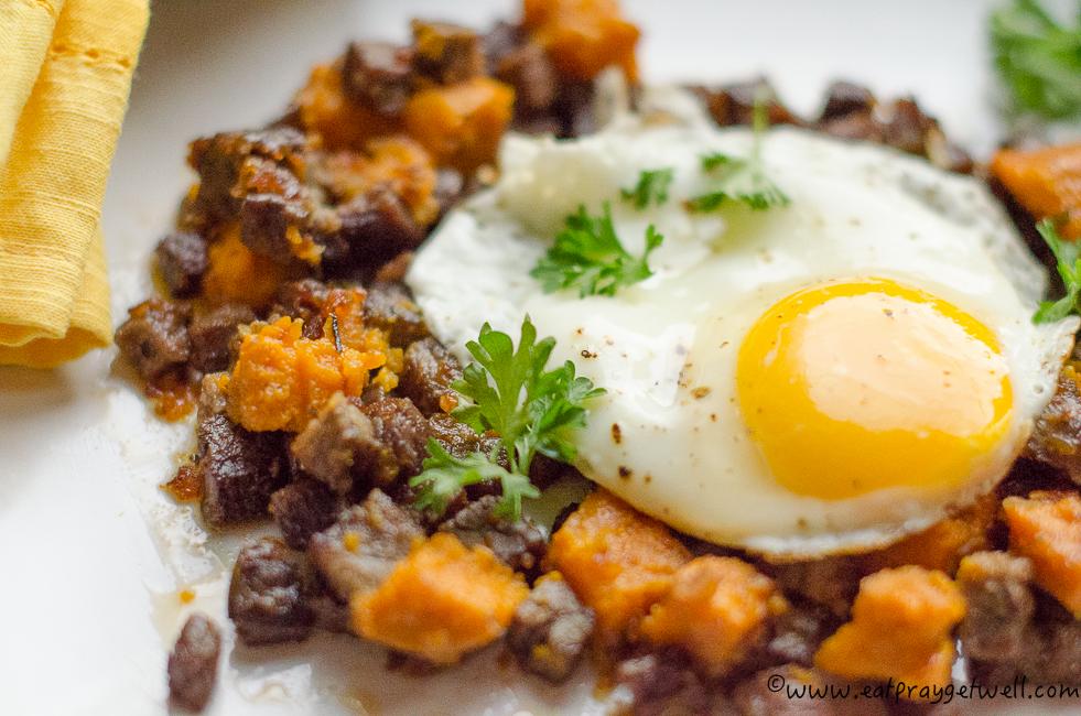 Sweet Potato Corned Beef Hash - Eat Pray Get Well